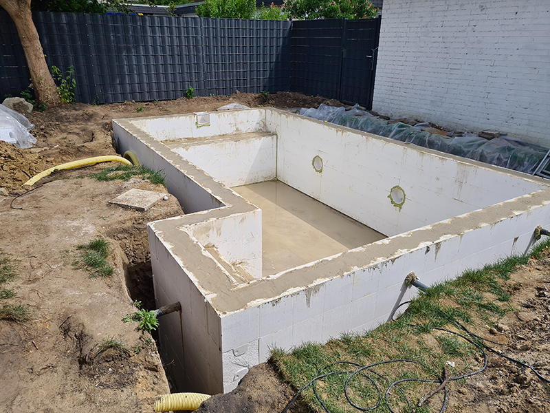 Gerke Bau Projekte Pool Betonage
